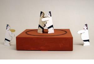 大相撲九州場所と紙相撲