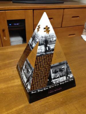 街で見かけて 買ってしまった三角な箱