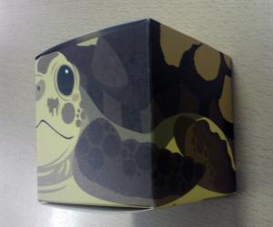 亀さんかわいい。普通の四角い箱なのに。