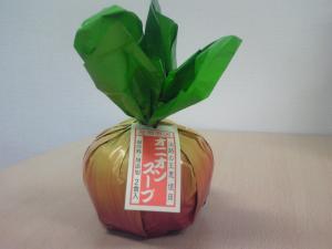 淡路島で有名なたまねぎスープ。のパッケージ。