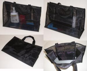販売員さんの私物バッグ。メッシュのバッグ。