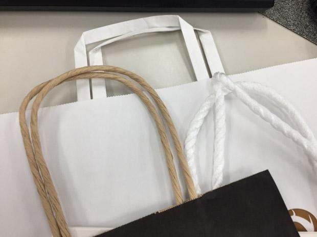 紙袋、紐の選択方法 なにがいいですか?