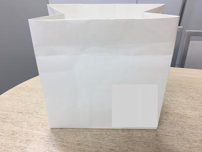 紙袋、折ってみました!!