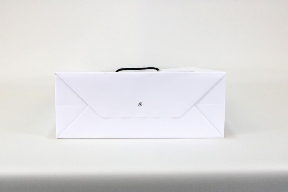 コート紙表面マットPP貼り、オフセット印刷1色の別注紙袋の底面画像