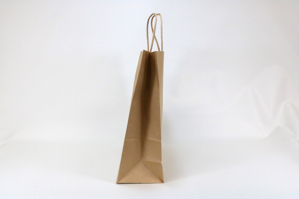 未晒クラフト、片面1カ所箔押しのセミオーダー紙袋の側面画像