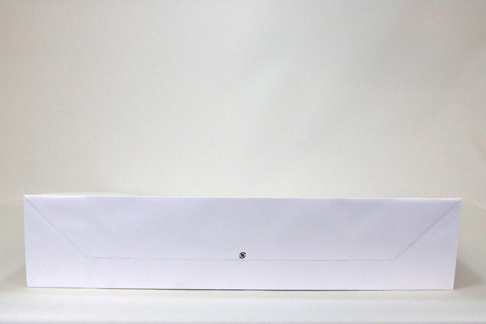 コート(白)表面マットPP貼り、シルク印刷 1色のセミオーダー紙袋の底面画像