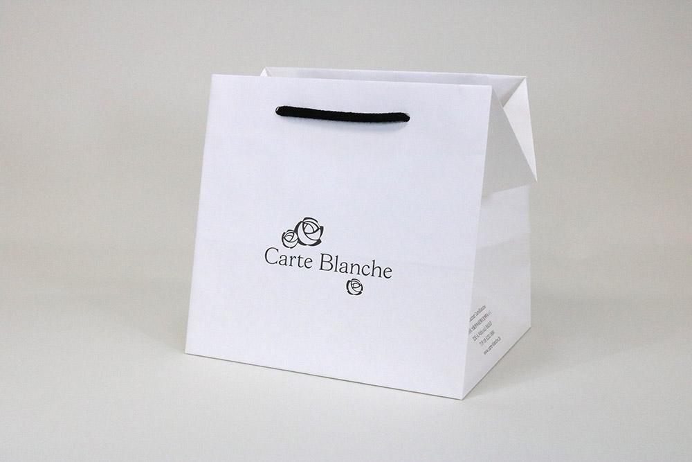 晒クラフト120g/㎡表面加工なし、オフセット印刷1色の別注紙袋