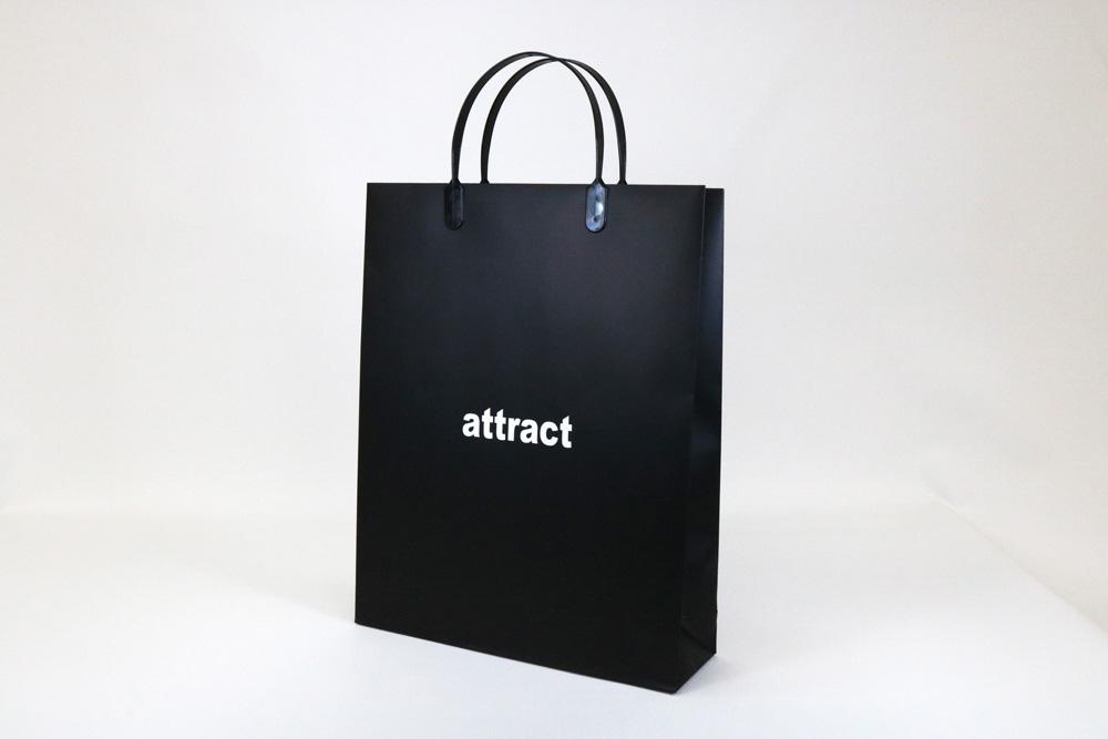 コート紙表面マットPP貼り、オフセット印刷ベタ1色の別注紙袋