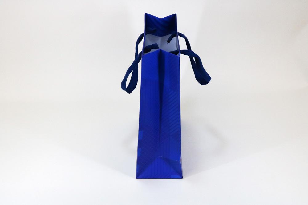 コート紙表面マットPP貼り、オフセット印刷カラー4色の別注紙袋の側面画像