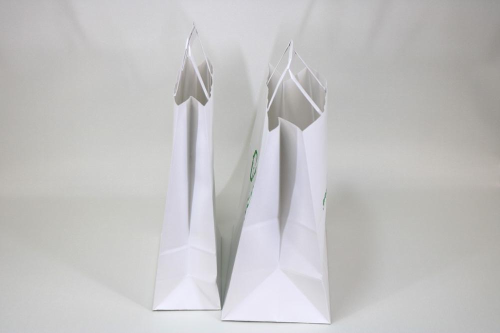 晒クラフト120g/㎡自動手付平紐、フレキソ印刷1色の別注紙袋の側面画像