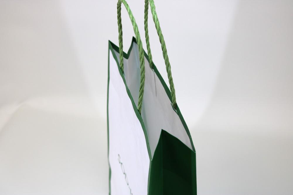 晒クラフト120g/㎡自動手付紐、オフセット印刷1色の別注紙袋の入れ口画像