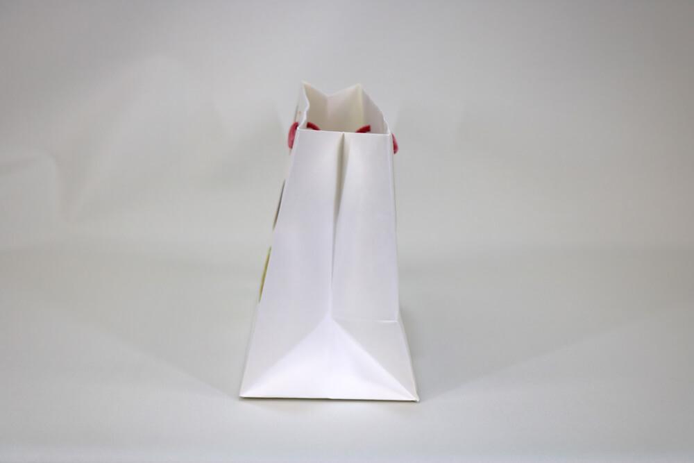 晒クラフト120g/㎡、オフセット印刷カラー4色の別注紙袋の側面画像