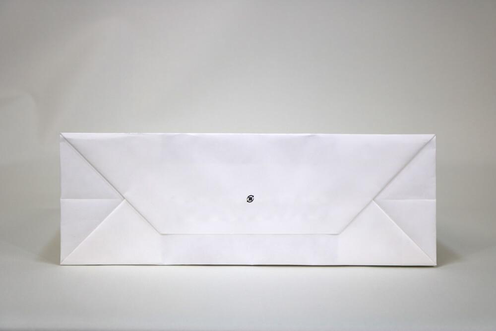 晒クラフト120g/㎡、オフセット印刷カラー4色の別注紙袋の底面画像