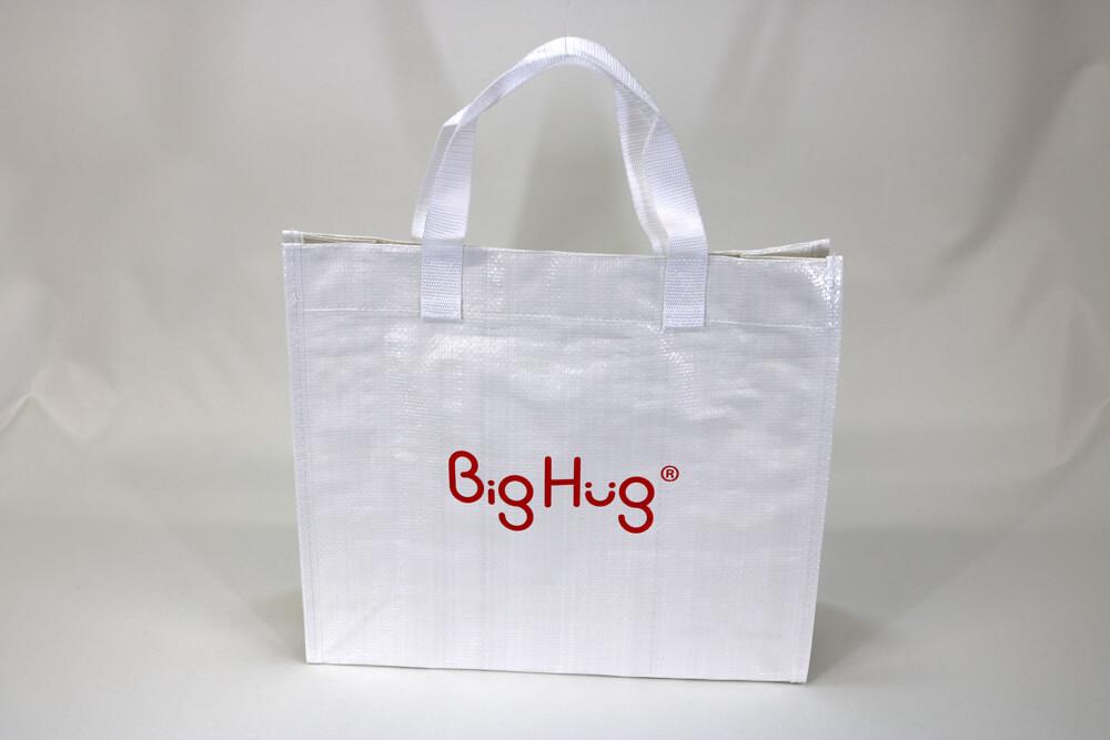 PPワリフのシルク印刷片面1色のセミオーダークロスレジャーバッグの正面画像
