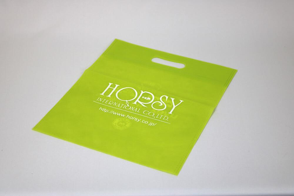 PP不織布40g/㎡ のシルク印刷 両面異柄1色のセミオーダー不織布バッグ