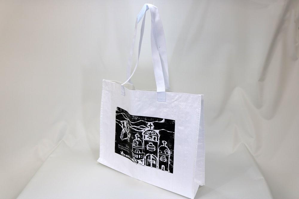PPワリフのシルク印刷片面1色のセミオーダークロスレジャーバッグ