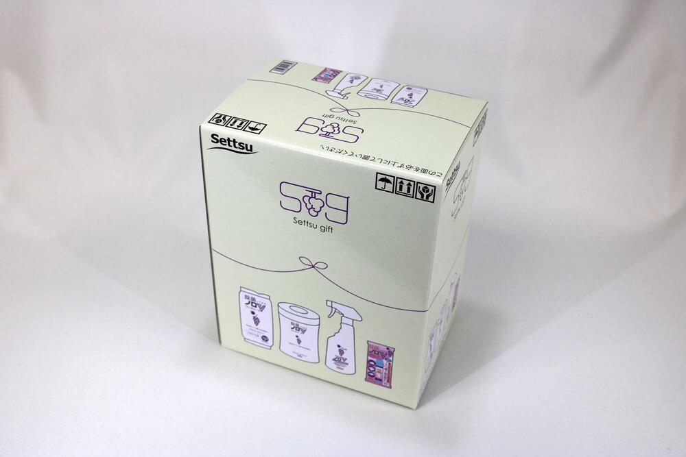 E段のオフセット印刷カラー4色の組立て箱