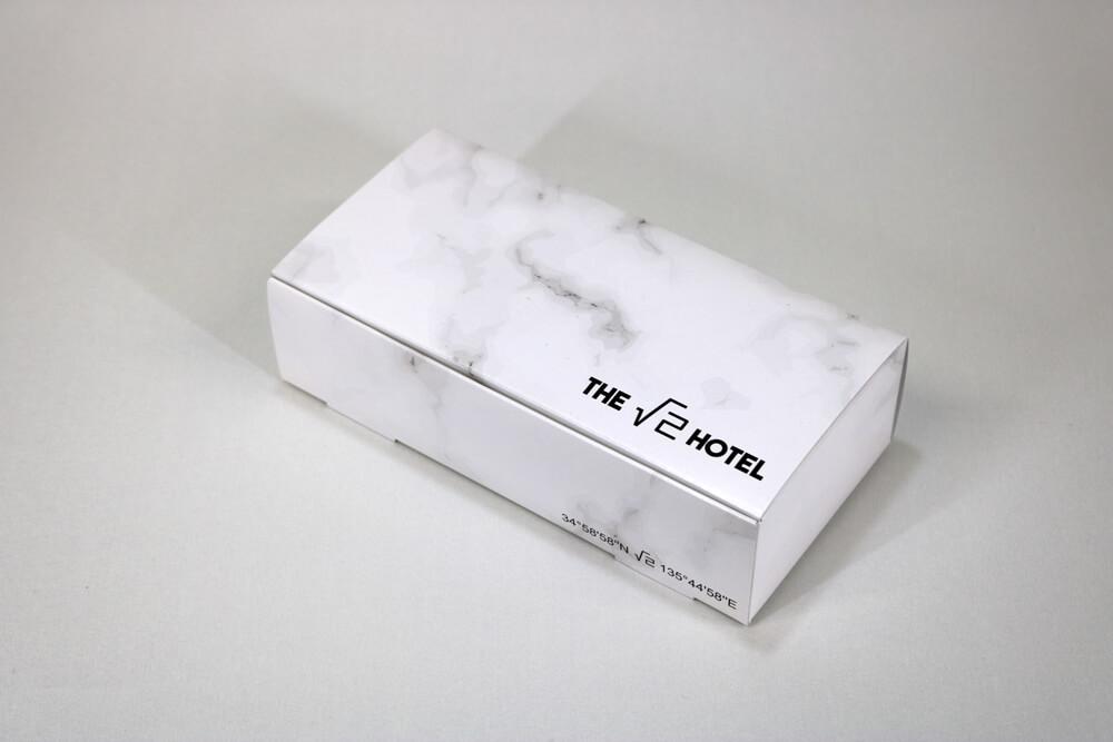 カードBにオフセット印刷カラー4色した組立て紙箱