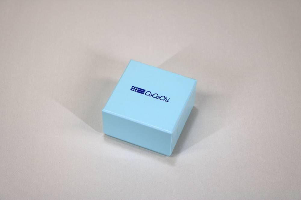 フェザーケース7300に箔押し1色印刷した貼り箱