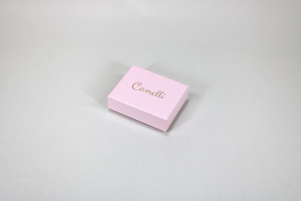 フェザーケース7303に箔押し1色印刷した貼り箱