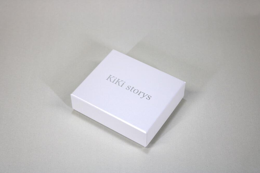 フェザーケース7304に箔押し1色印刷した貼り箱