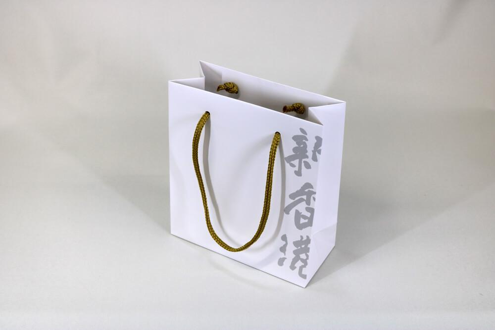 コート紙表面マットPP貼り、オフセット印刷1色の別注紙袋