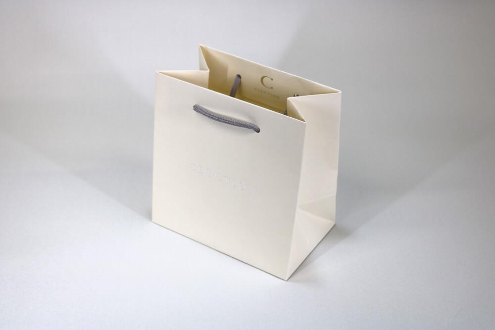 kome-kami 157g/㎡、箔押し印刷1色の別注紙袋