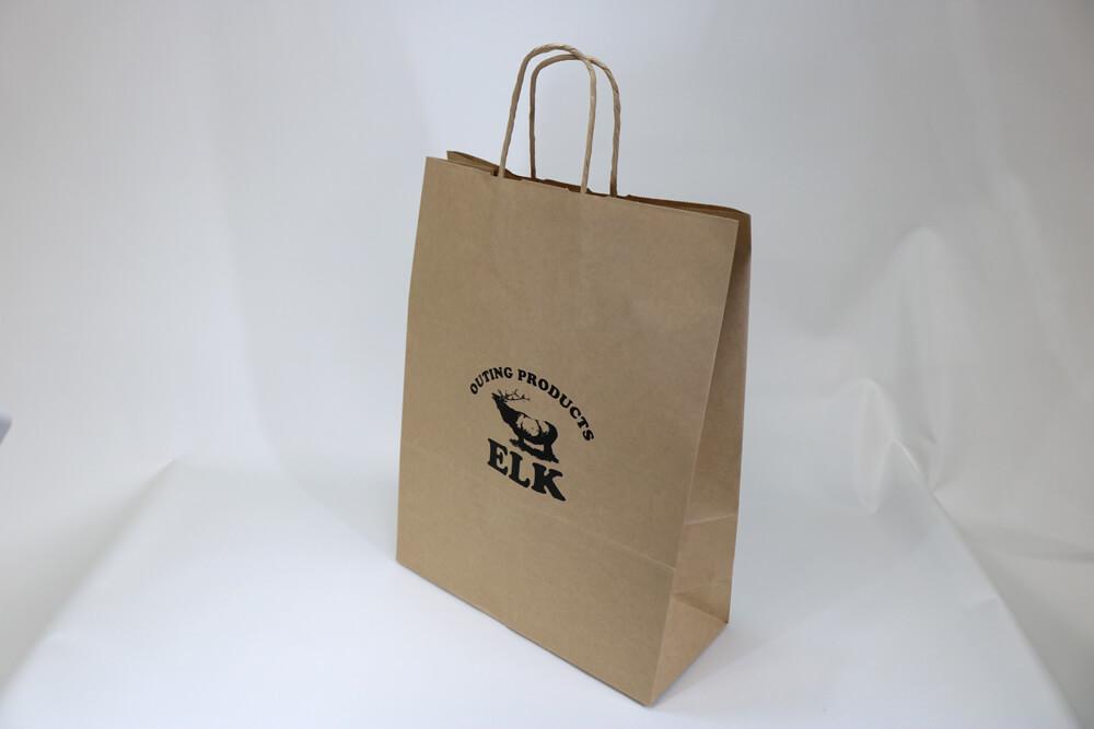 未晒クラフト(茶)、シルク印刷1色のセミオーダー紙袋